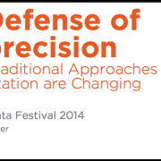 In Defense of Imprecision: Why Traditional Approaches to Data Visualization are Changing – ODSC Boston 2015