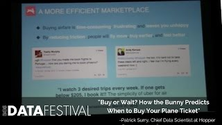 """Patrick Surry at BDF 2015   """"Buy or Wait? How the Bunny Predicts When to Buy Your Plane Ticket"""""""