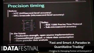"Christina Qi at BDF 2015   ""Fast and Smart: A Paradox in Quantitative Trading"""