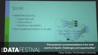 "Diego Klabjan at BDF 2015 | ""Personalized recommendations from web events in Spark"""