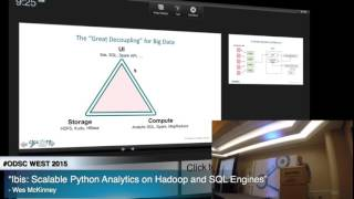 "ODSC WEST 2015 | Wes McKinney – ""Ibis: Scalable Python Analytics on Hadoop and SQL Engines"""