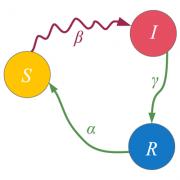 SIR model with deSolve & ggplot2