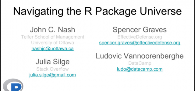 NAVIGATING THE R PACKAGE UNIVERSE