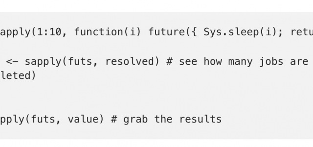 Programming with Futures in R