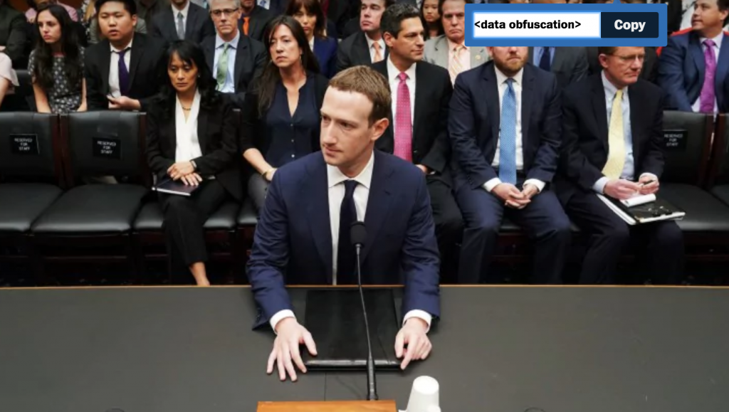 Mark Zuckerberg, Facebook CEO and Renowned Data Obfuscator