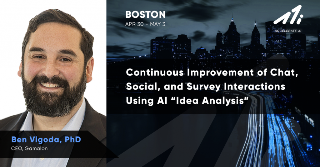 Chat, Social, and Survey Interactions Using AI Idea Analysis