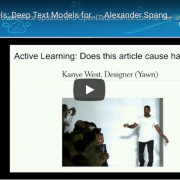 Watch: Project Feels – Deep Text Models for Sentiment Analysis