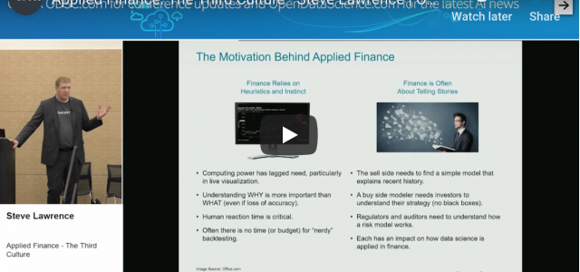 Watch: Applied Finance – The Third Culture