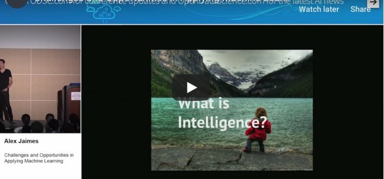 Watch: Challenges and Opportunities in Applying Machine Learning