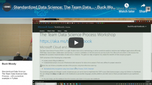Standardized Data Science: The Team Data Science Process with Python