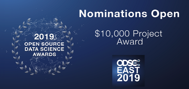 Nominate a Data Science Project for a $10,000 Grant at ODSC East 2019