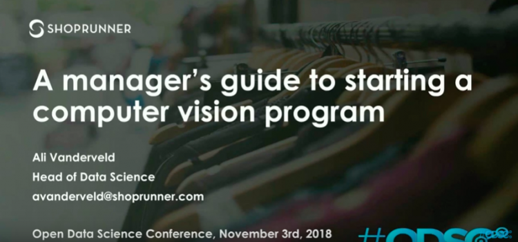 Watch: A Manager's Guide to Starting a Computer Vision Program