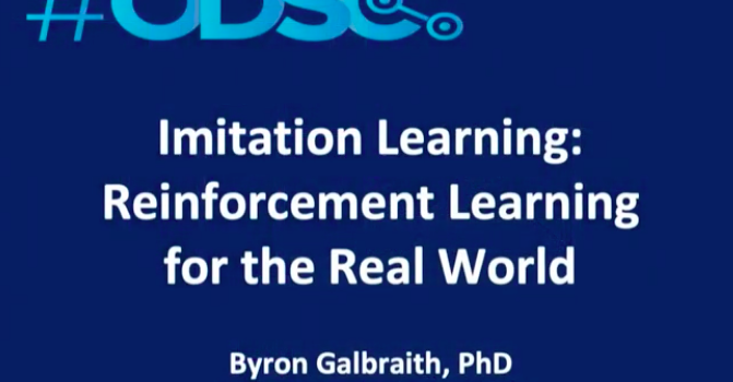Watch: Imitation Learning: Reinforcement Learning For The Real World