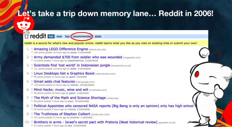 The History and Future of Machine Learning at Reddit