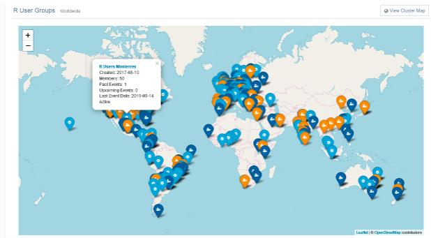 R User Community Worldwide: A Data-Driven Exploration