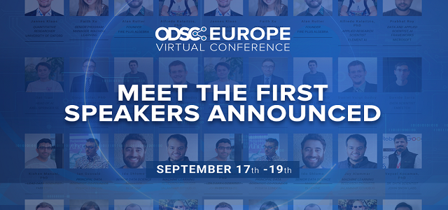Announcing the First ODSC Europe 2020 Virtual Conference Speakers