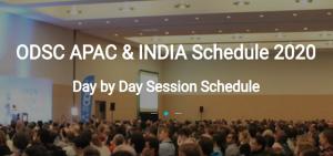 ODSC APAC 2020 Schedule