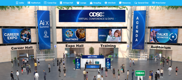 ODSC East 2021 event interior