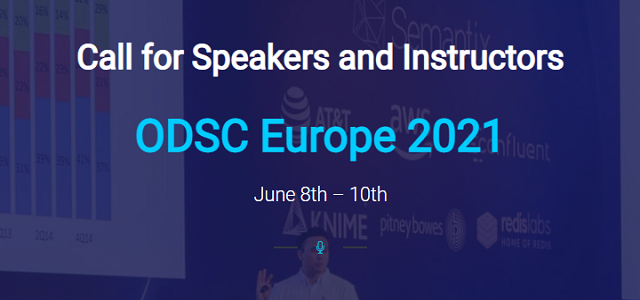 Call for ODSC Europe 2021 Speakers and Content Committee Members