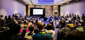 this ODSC West 2019 picture serves as an example of what ODSC West 2021 will be like again, in-person