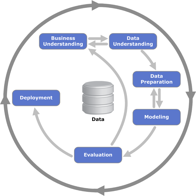the cycle of data preparation, including data cleaning
