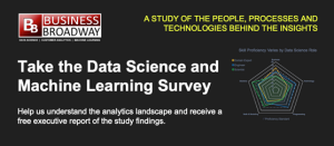 Machine Learning Survey header by SAS