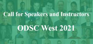 speak at ODSC West